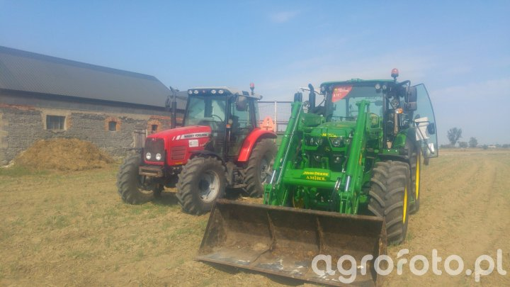 MF 5445& JD 6105 rc