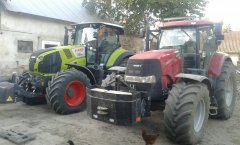 Case puma 185 & Claas axion 830