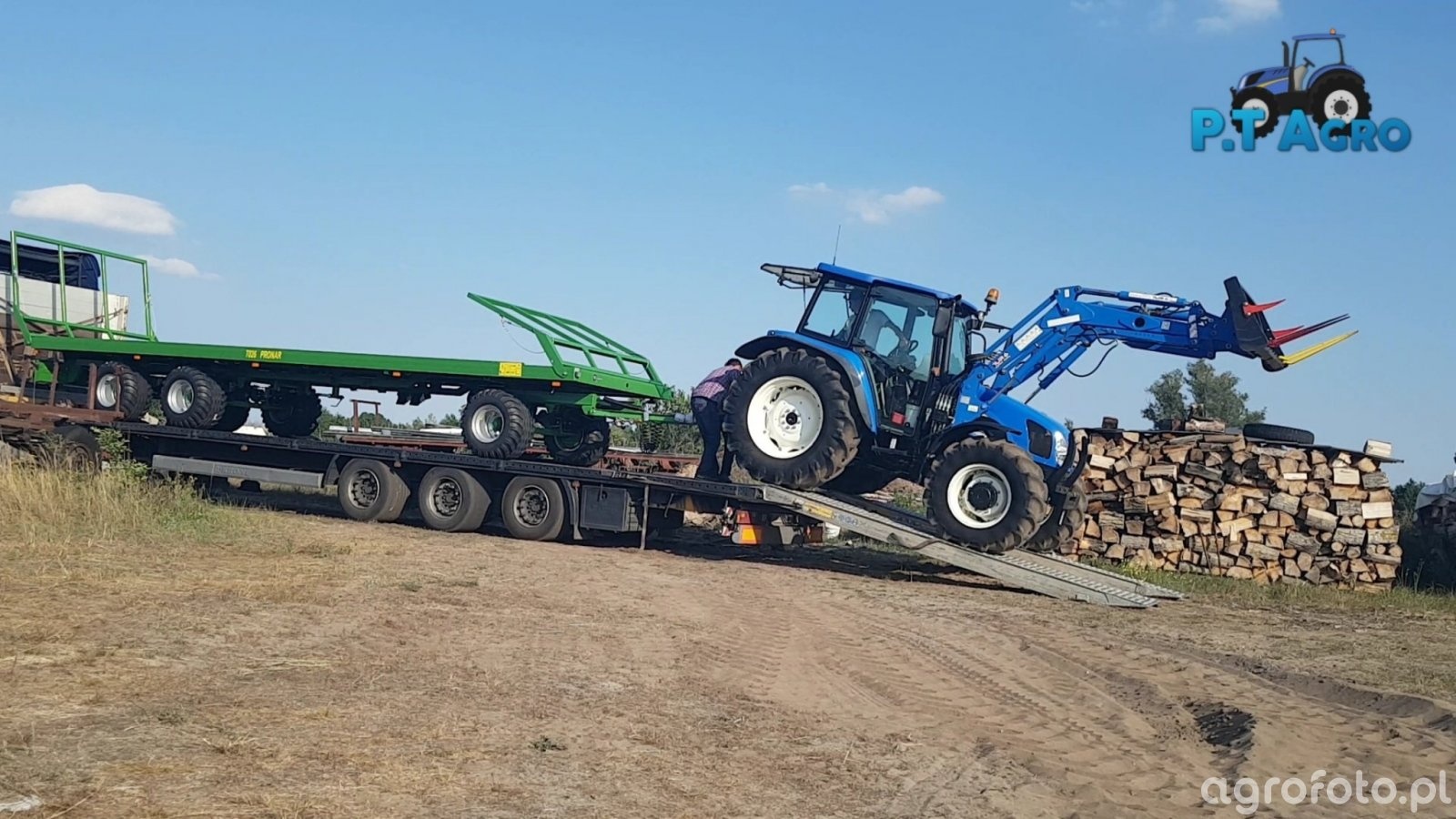 New Holland T5060 + Pronar T026