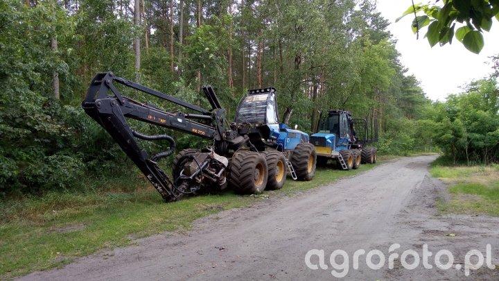 2x Rottne, harvester i forwarder