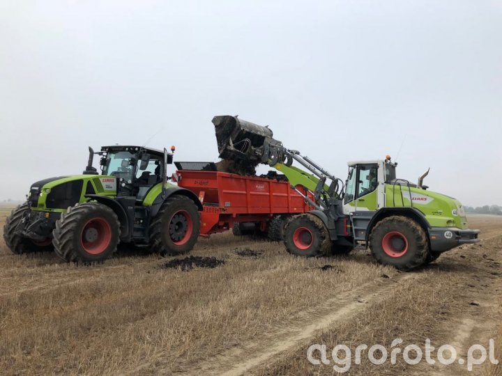 Claas Axion + Claas Torion