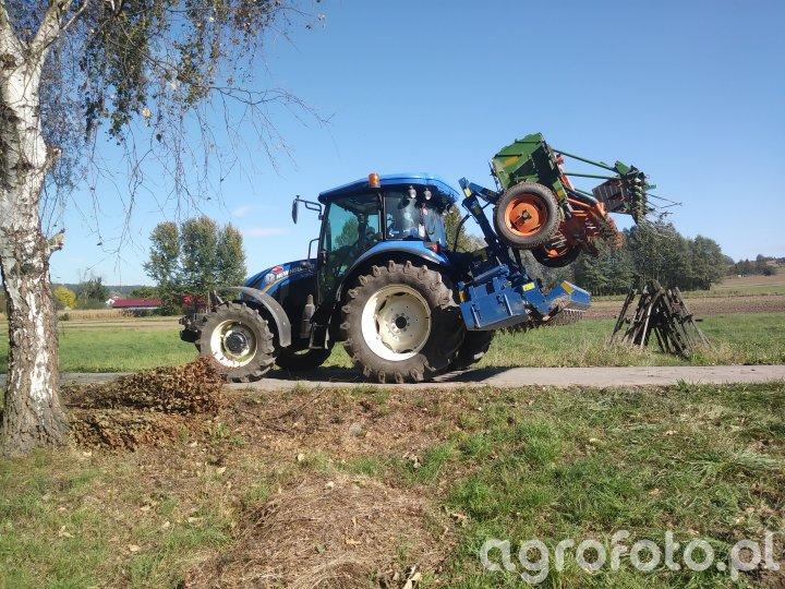 New Holland Td5.95 + rabe werk +amazone d8