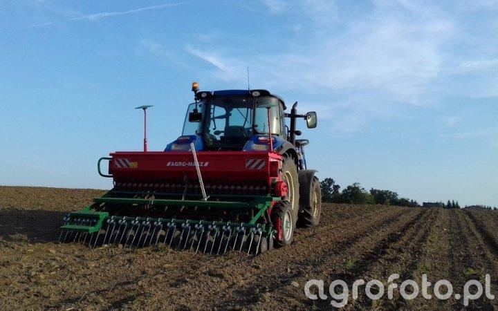New Holland T5.105 DC / Agro-Masz SR300 Talerzowy