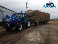 New Holland T5060+Pronar T026