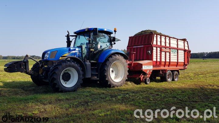 New Holland T6030 & Pottinger Siloprofi 2