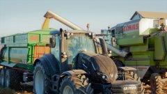 Valtra T194 versu +MetalTech TS 18 & Claas Dominator 88s
