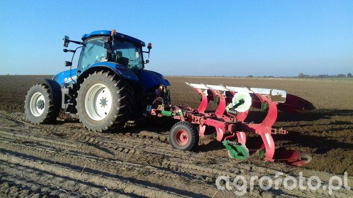 New Holland T6.175 + Unia Vario 4S Long