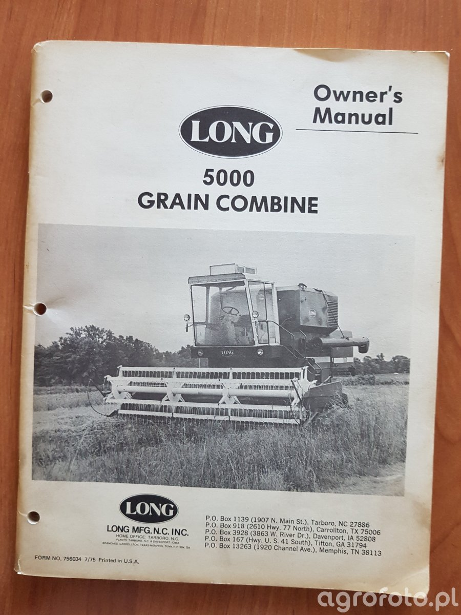 BIZON Z055 America / Long 5000 Grain Combine