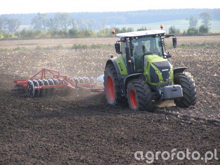 Claas Axion 850 & Pług Kverneland ED 100