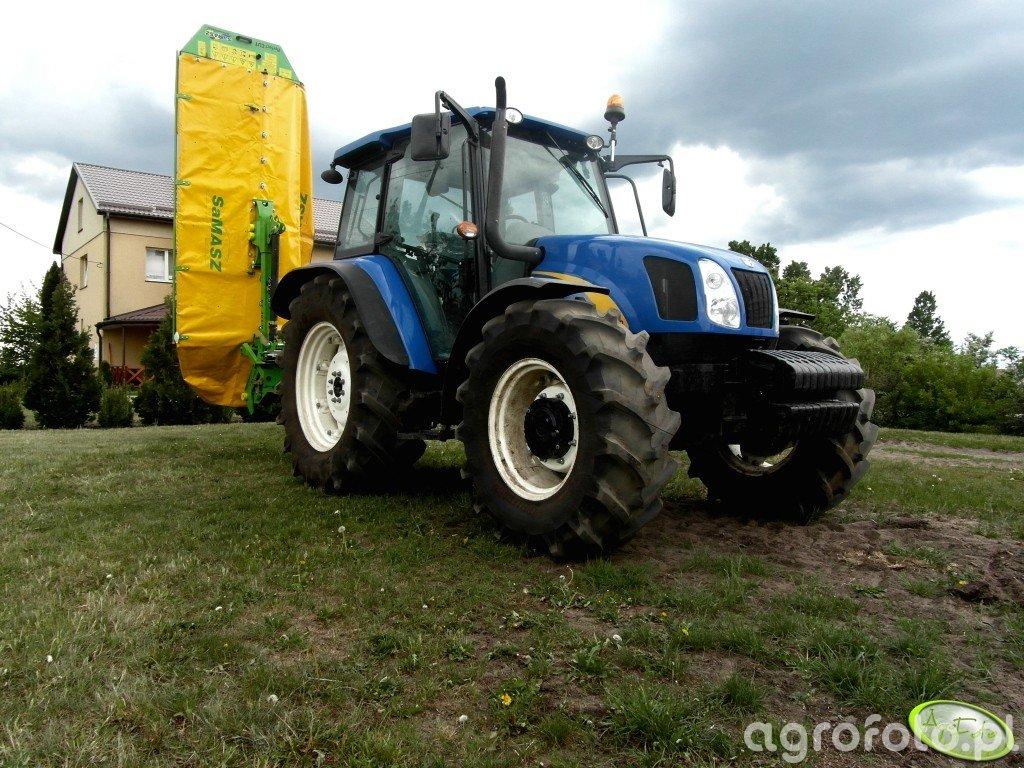New Holland T5060 i Samasz KT 301 H