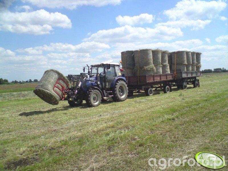 Farmtrac 675 DT + Tur Ł-104 i przyczepy