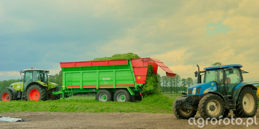 Claas Ares 657 i Unia tytan 24