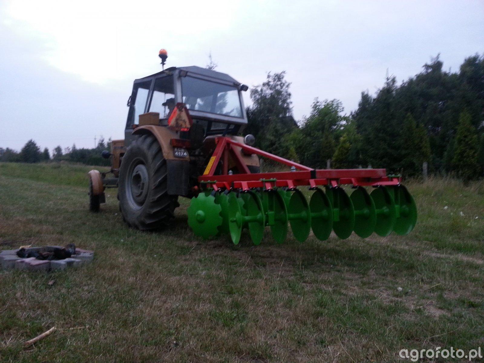 Ursus C 360 + Brona talerzowa GRASS-ROL Oskar 2.0m