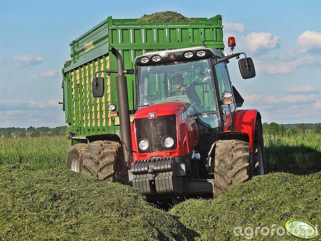 Massey Ferguson 5465 & Krone MX 350 GD