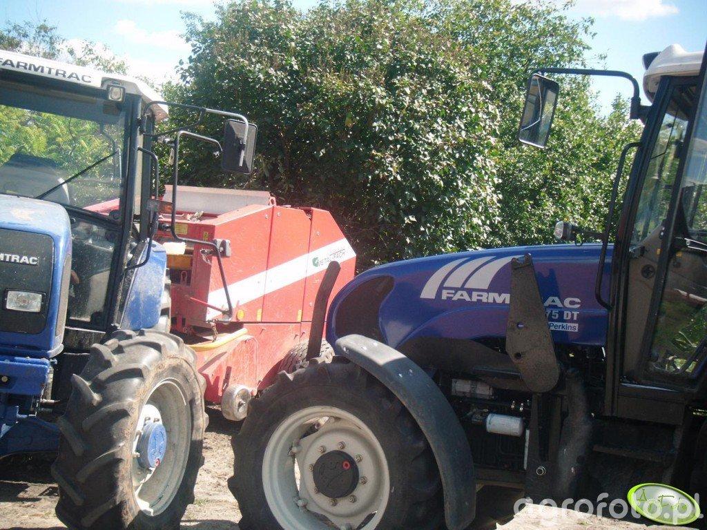 Farmtrac 675DT (bez tura) i Farmtrac 675 z prasą