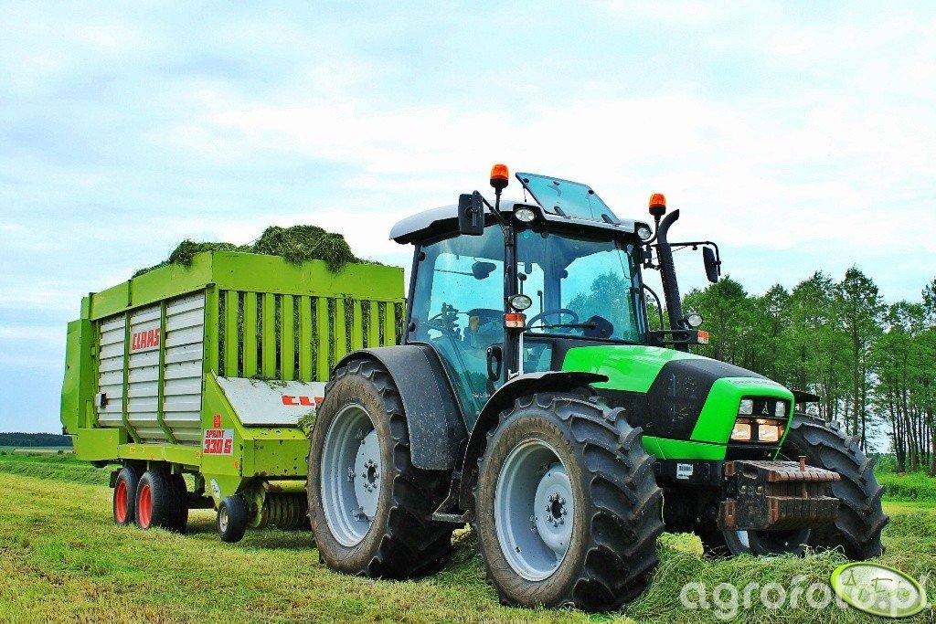 DF Agrofarm 420PL + Claas Sprint 330S