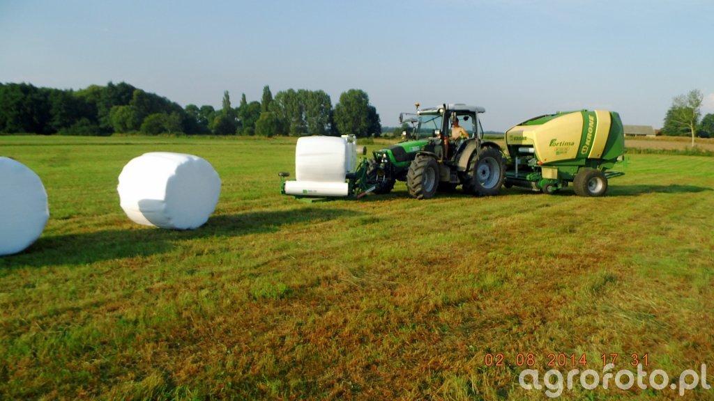 Deutz-Fahr Agrofarm 420PL+krone Fortima V1500MC