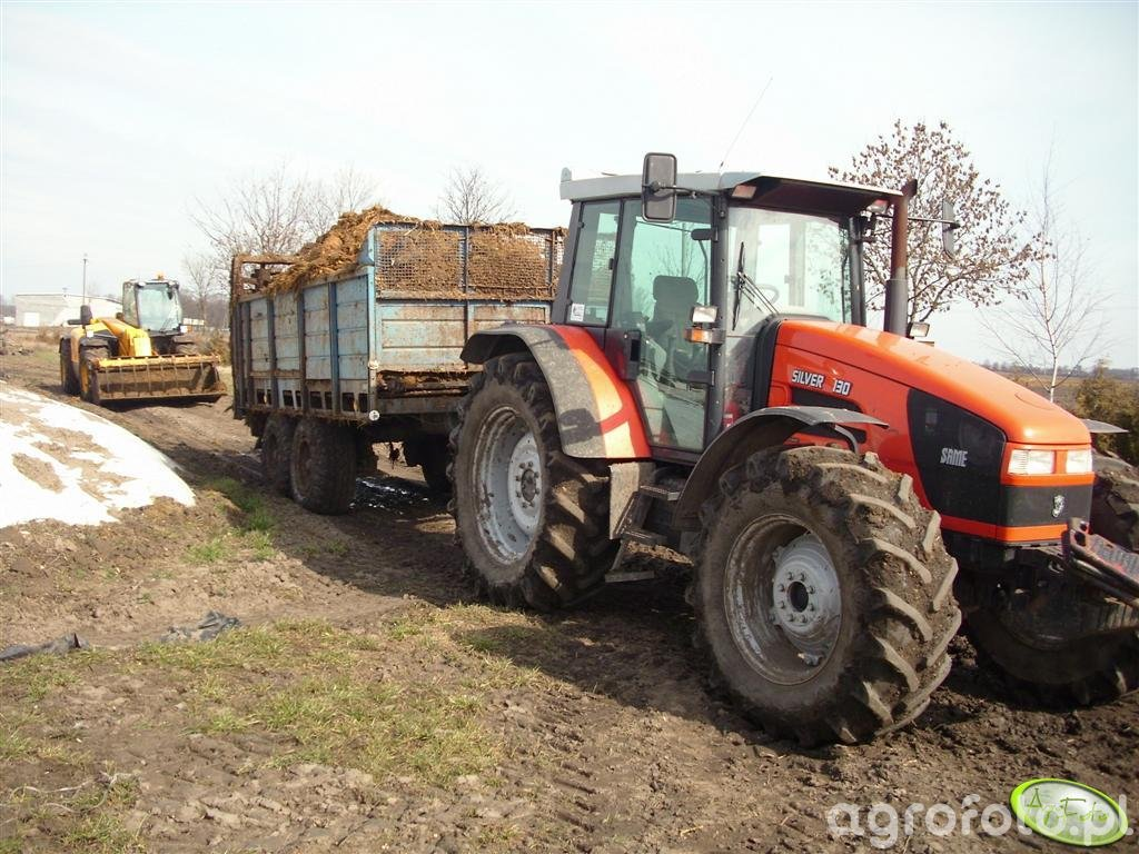 Same Silver 130 + T-088 i JCB 536-60 agri