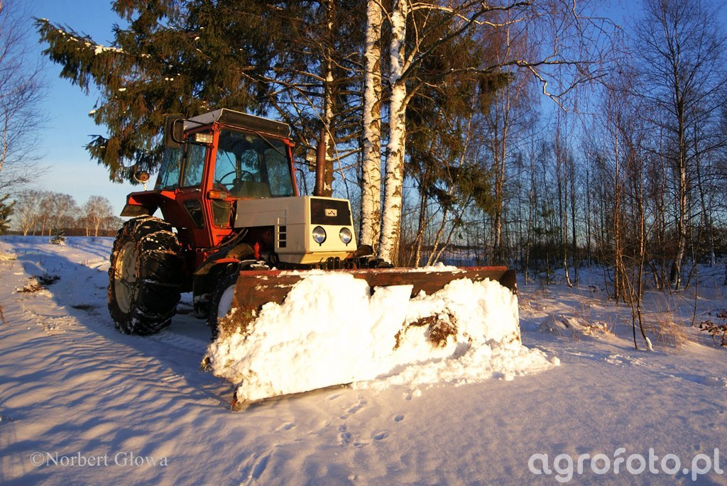LTZ 55AS + pług śnieżny