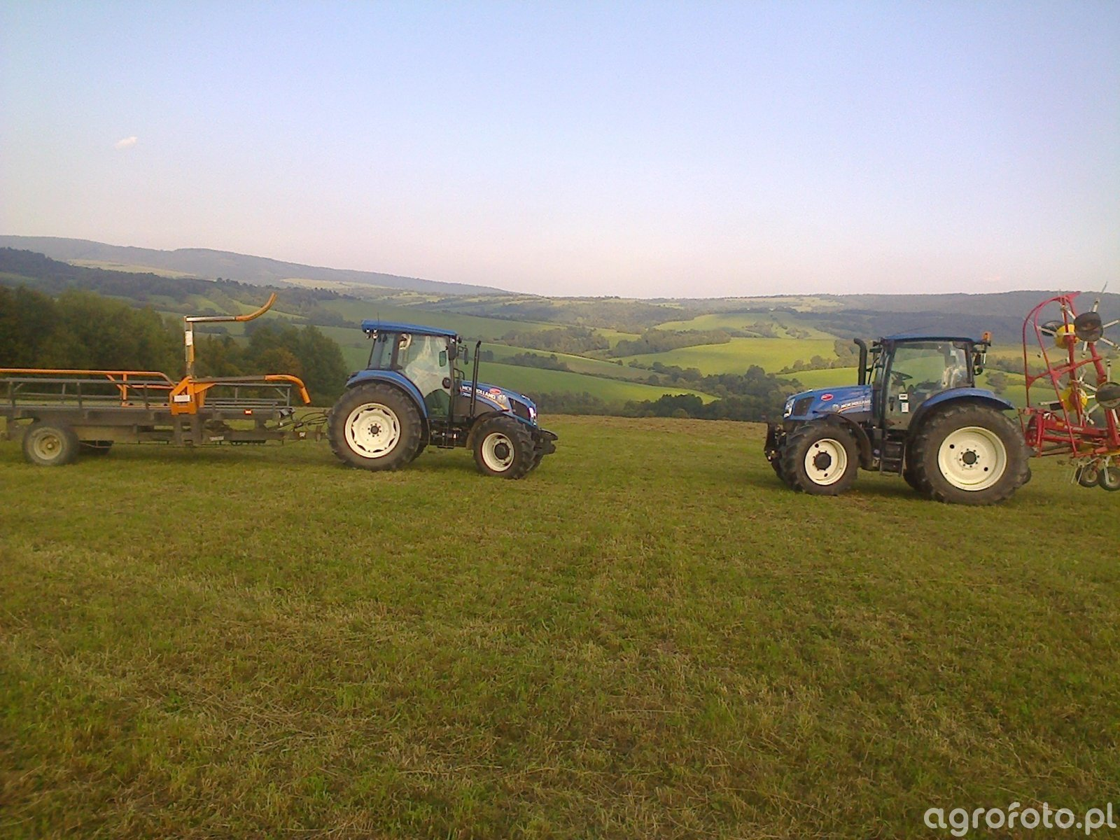 New Holland t6 120 A & New Holland td5 85