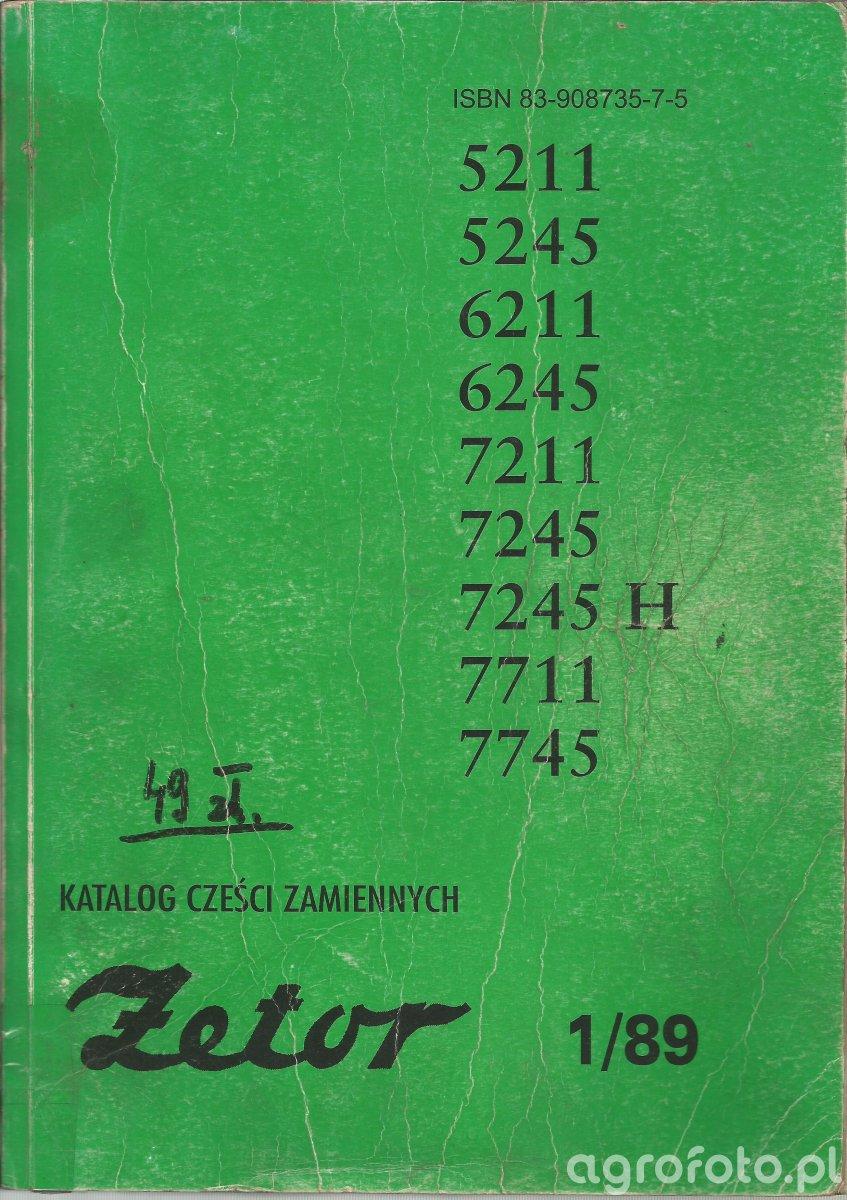 Katalog części zamiennych Zetor