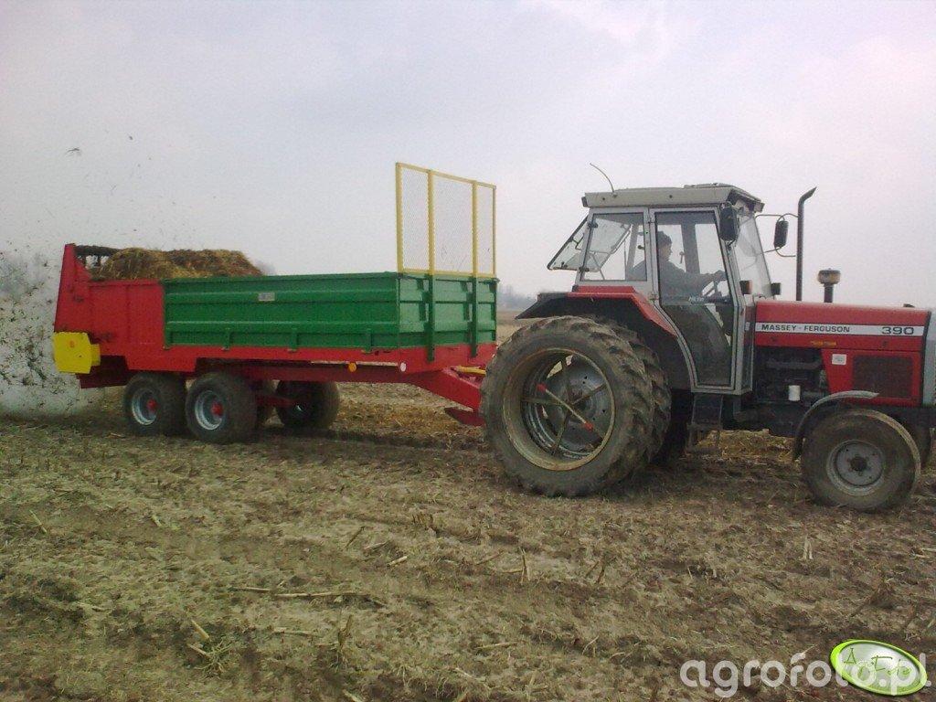Massey Ferguson 390 + rozrzutnik 8 ton