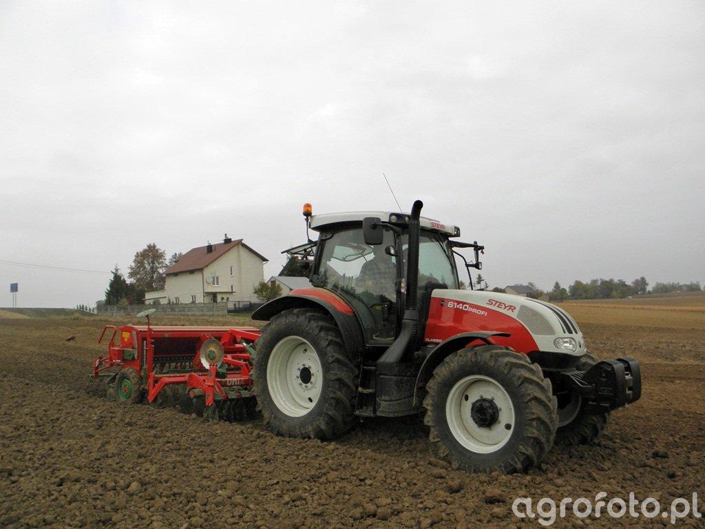 Steyr Profi 6140 + Unia Group Ares Tl + Unia Group Polonez 3/550 D