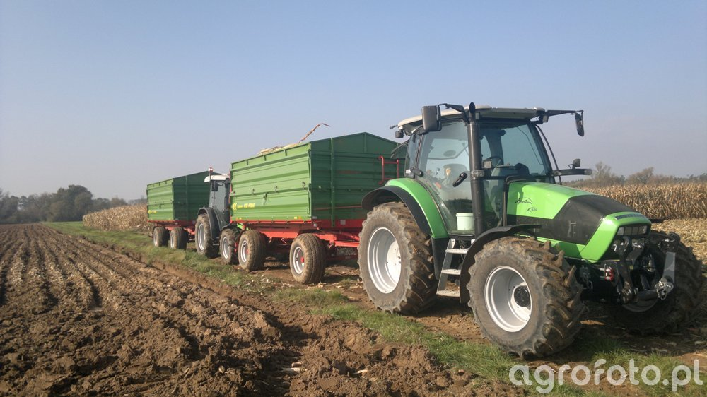 Deutz-Fahr Agrotron K420 +Pronar 672/1 & Deutz-Fahr Agroplus 67 +Pronar 672/1