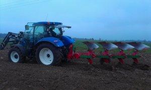 New Holland T6 165 & Unia IBIS XLS