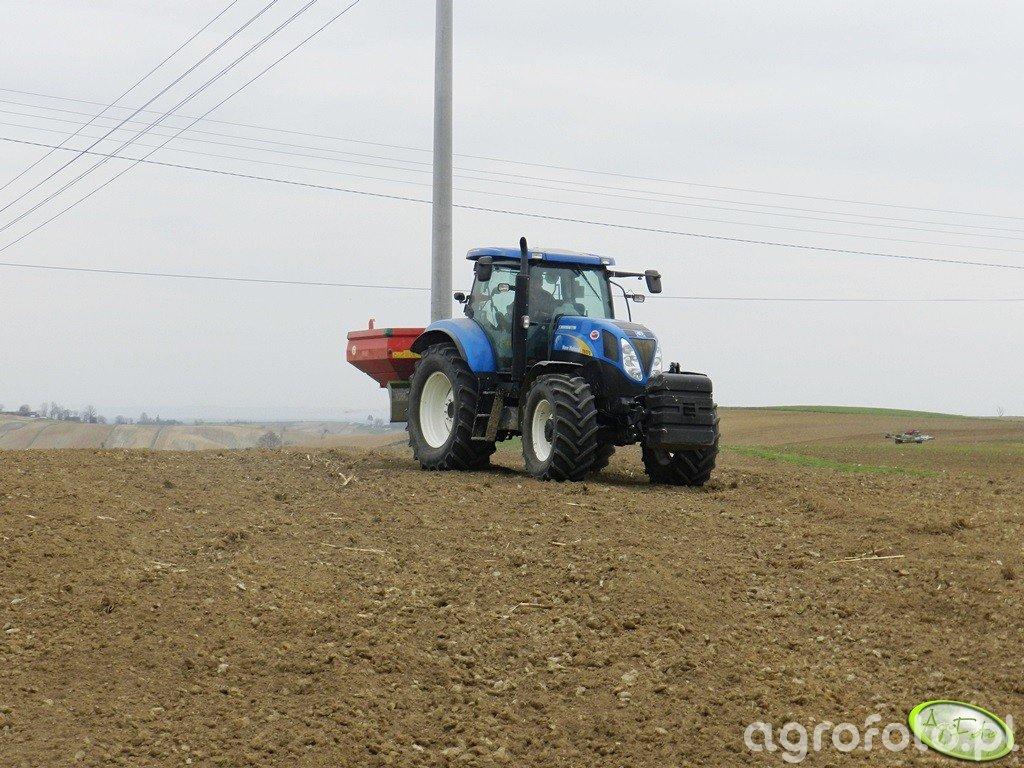 New Holland T6070 PC + Unia Mx 3000 l