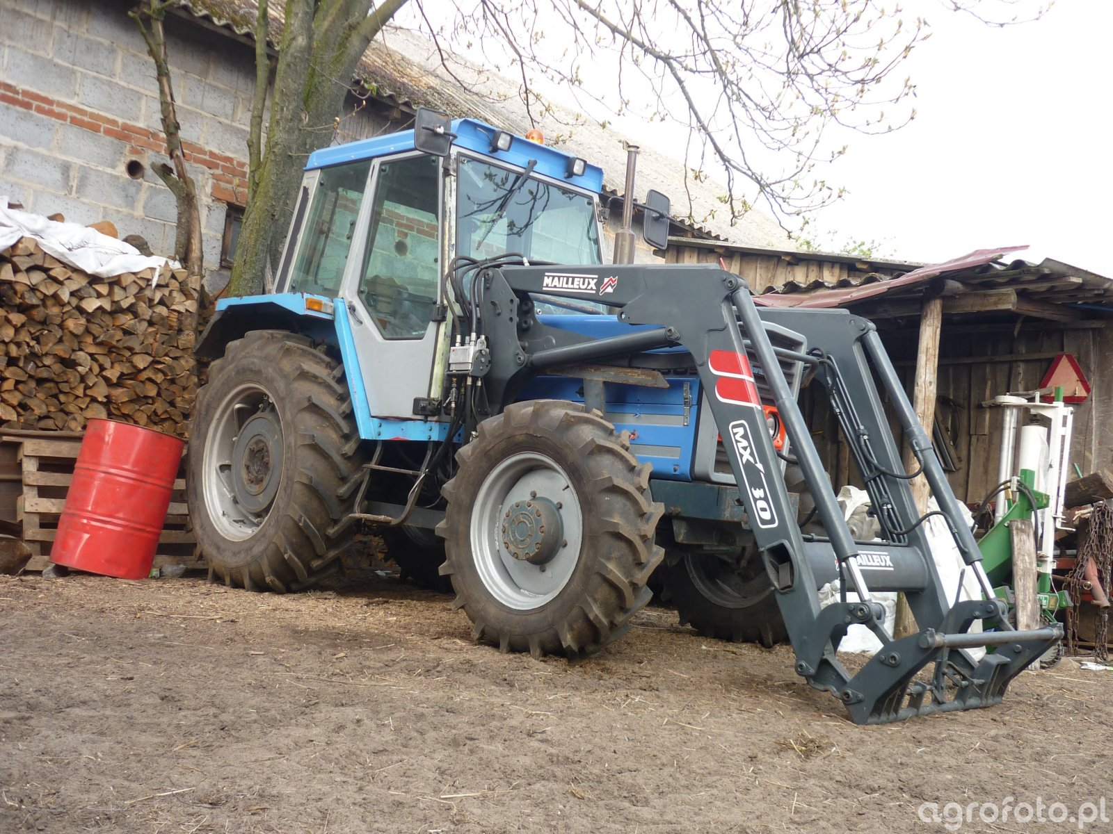 Landini 6550 + mallineux 80