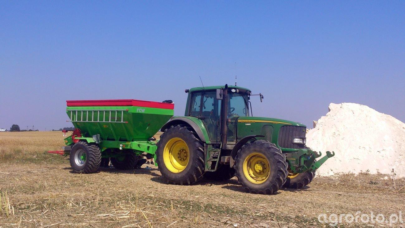 John Deere 6820 & Unia RCW 8200