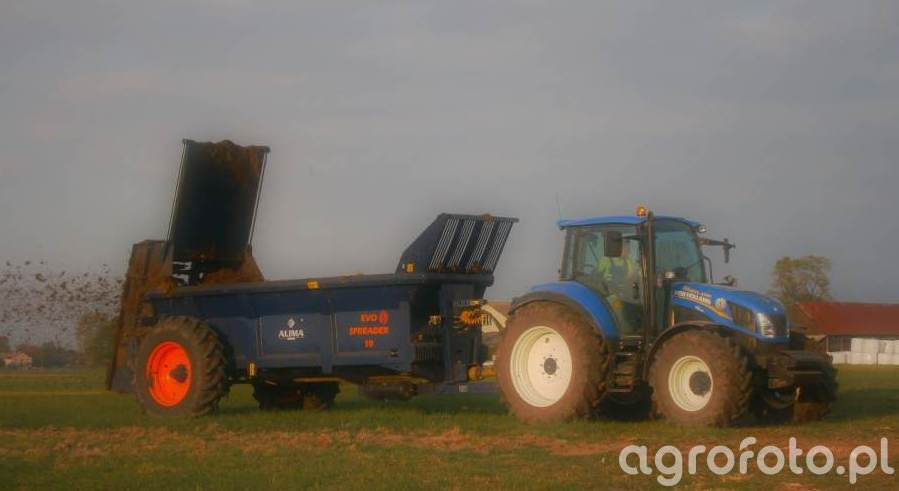 New Holland T5.95+Alima-Bis 10