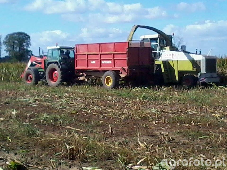 Fendt Farmer 312 i Claas Jaguar 690