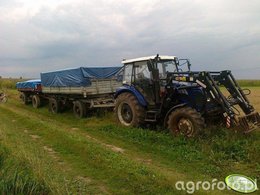 Farmtrac 675DT i przyczepy