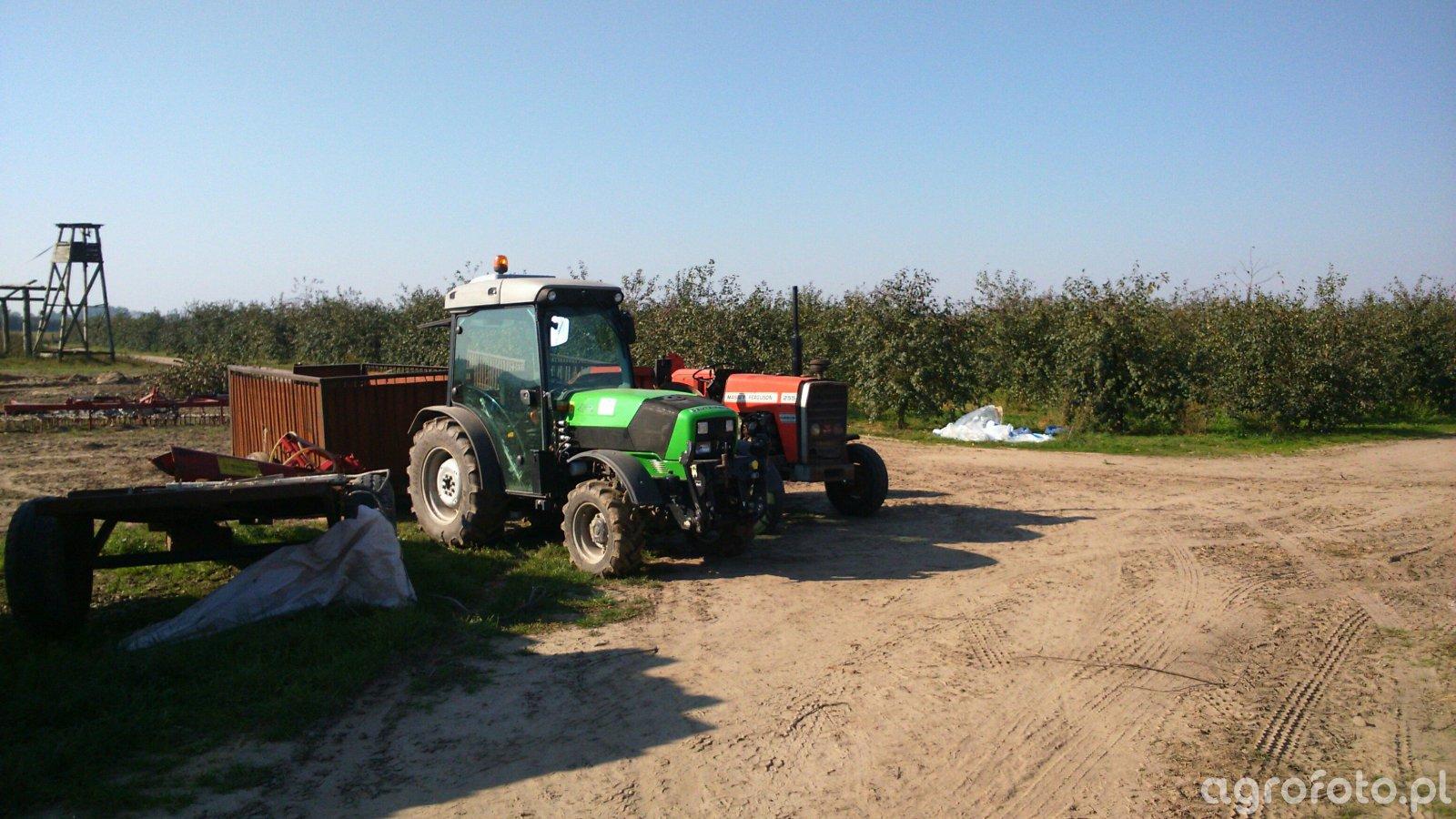 Deutz-Fahr agroplus 320s i massey ferguson 255