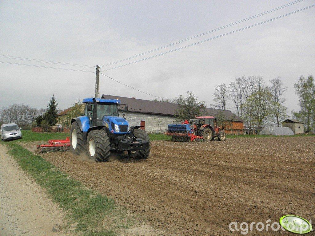New Holland T 7550 + Zetor Forterra 9641