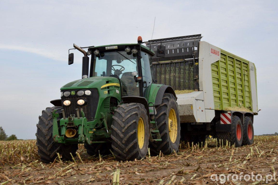 John Deere 7730 & Claas Cargos 9500