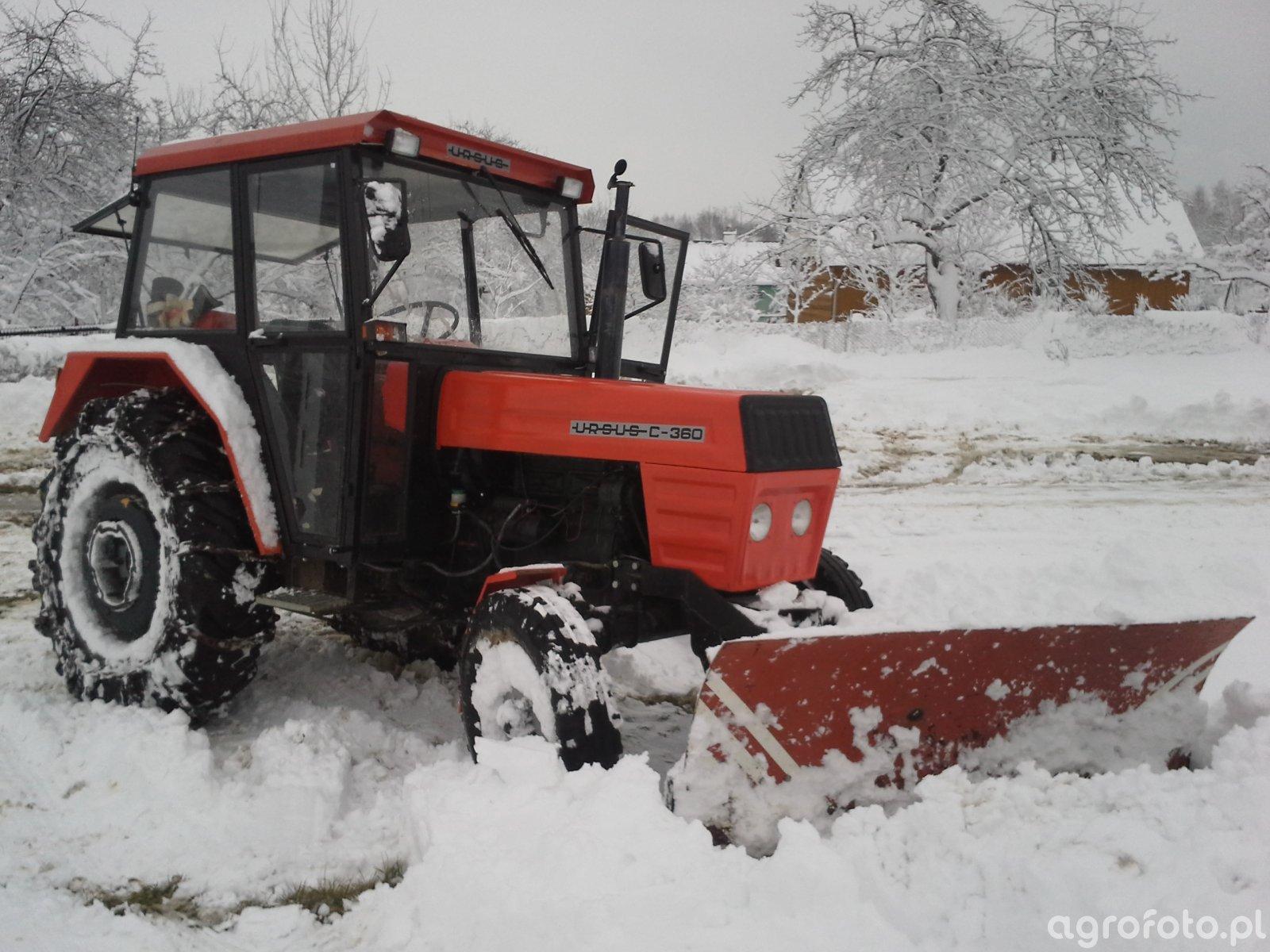 Inteligentny Fotografia ciagnik Ursus C-360 & pług do śniegu id:544634 WX28