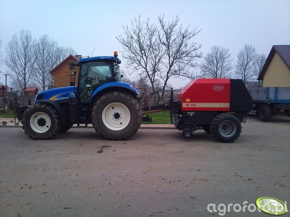 New Holland T6030 RC & Vicon RF 135