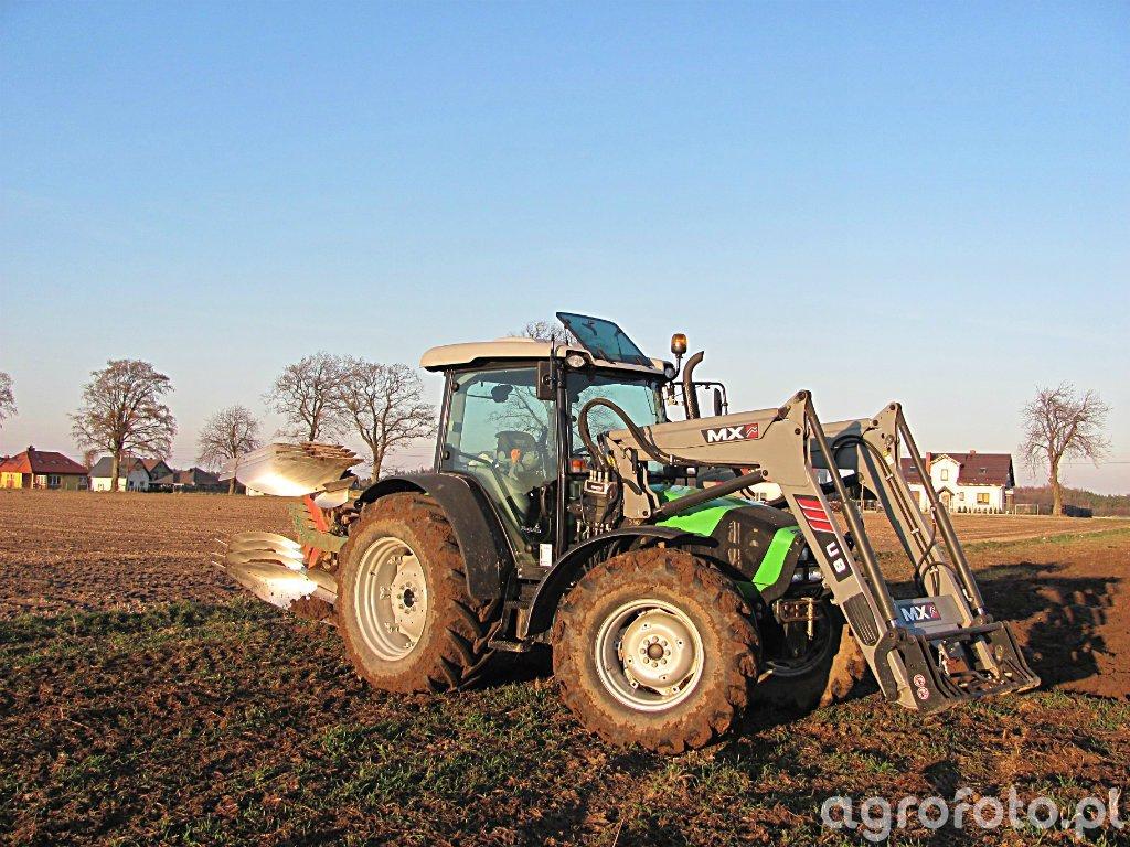 Deutz-Fahr Agrofarm 420PL + Kverneland