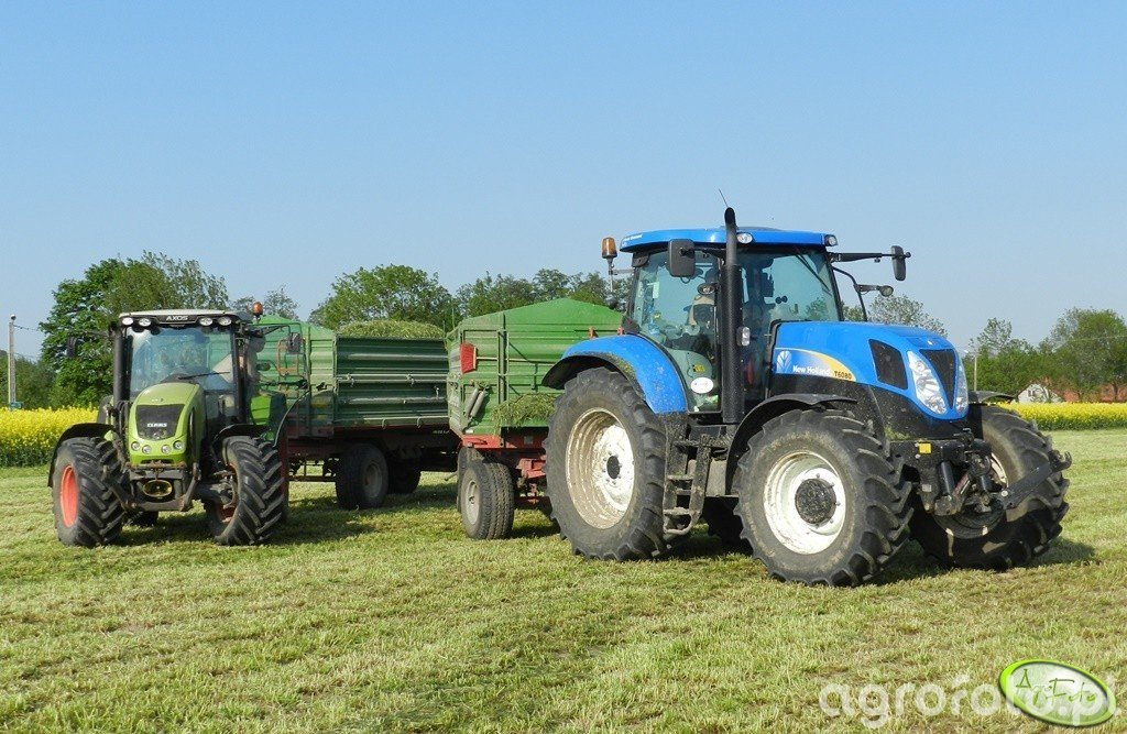New Holland T6080PC + Claas Axos 340