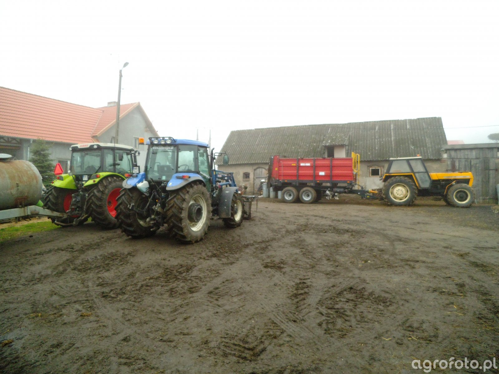 New Holland TD5050 + Claas Axos 330 CX + Ursus 1224