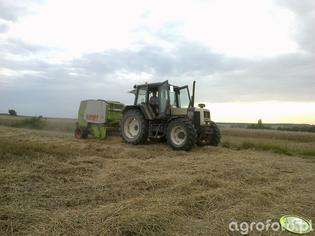 Renault 120-54 Nectra & Claas Rollant 46 silage