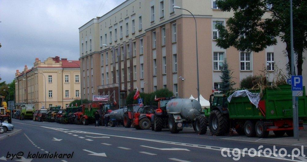 Protest podlaskich rolników w Białymstoku