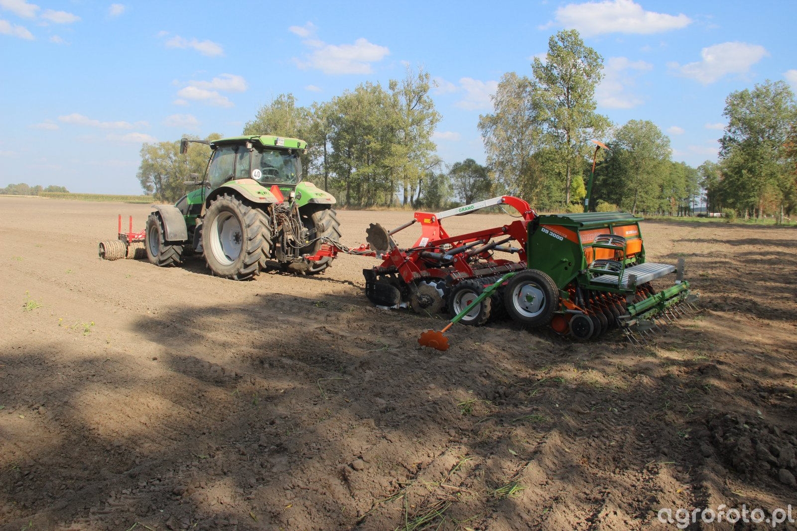 Deutz Fahr K 110 + Grano system Shark 3,0 + Amazone D9 Super + Wał Cambridge