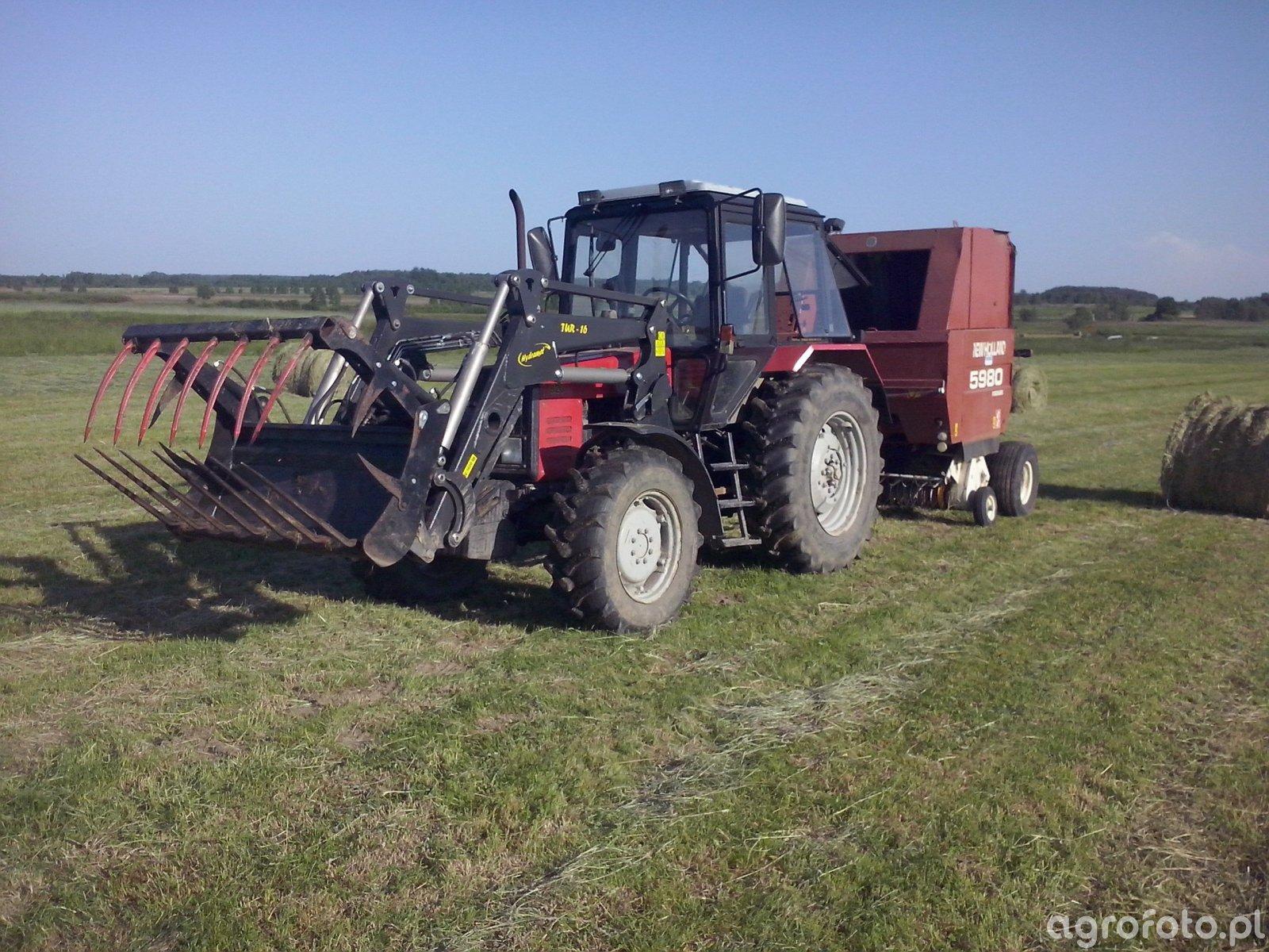 MTZ Belarus 820.3 + Tur16 Hydramet + New Holland 5980