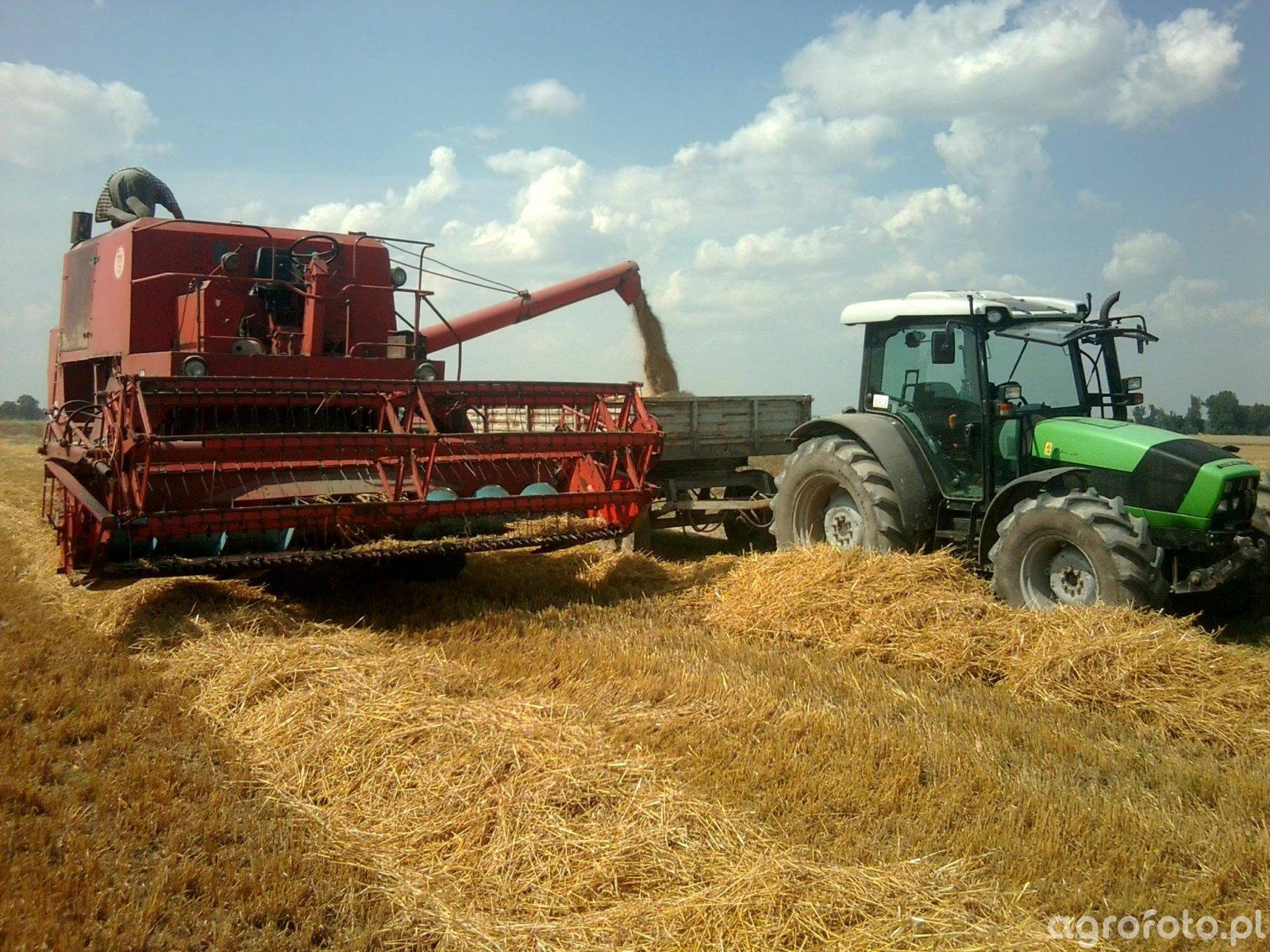 Deutz-Fahr Agrofarm 430 i Autosan D-55 oraz Bizon Z056