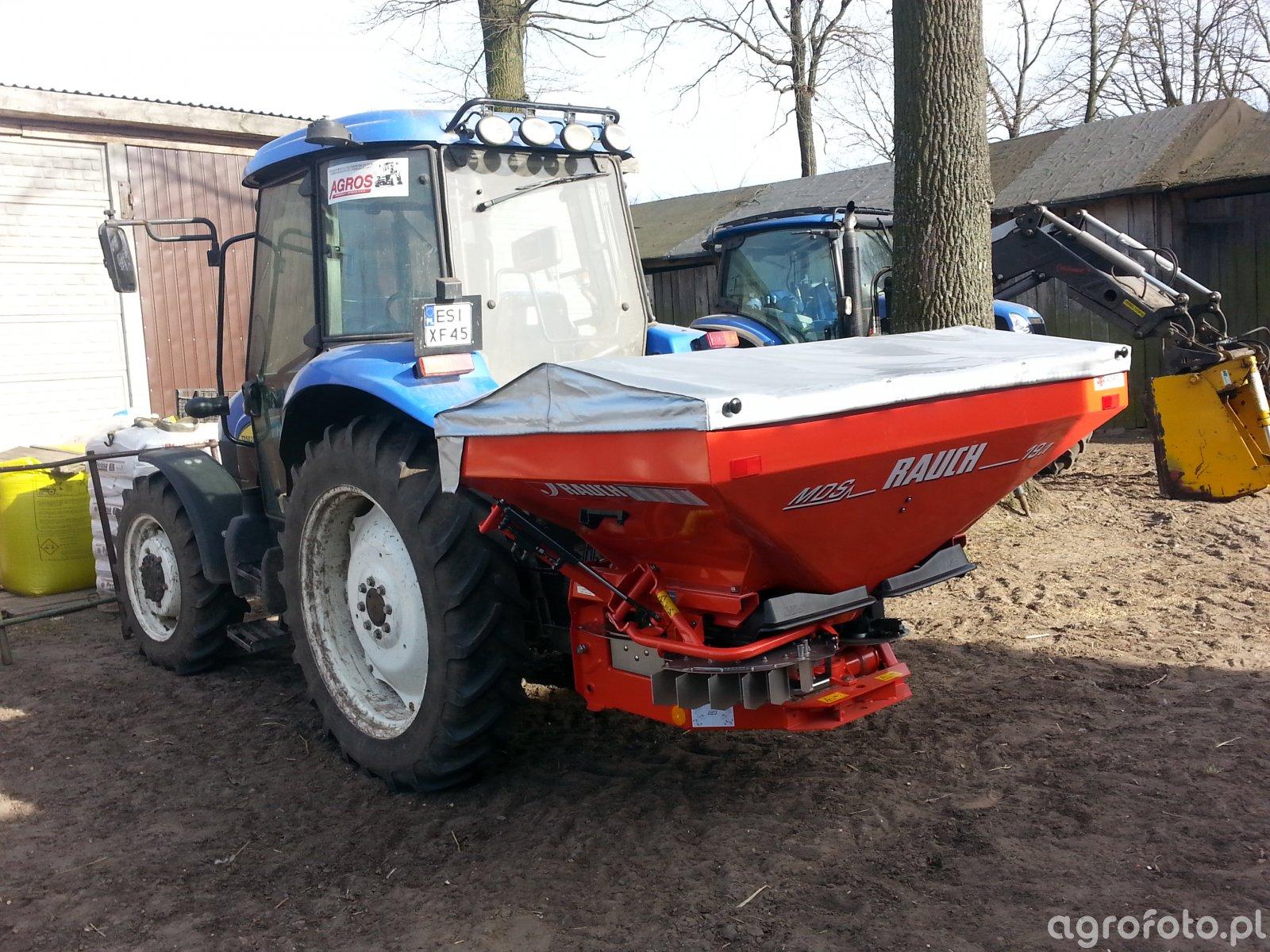 New Holland TD5020 i Rozsiewacz Rauch MDS 19.1Q