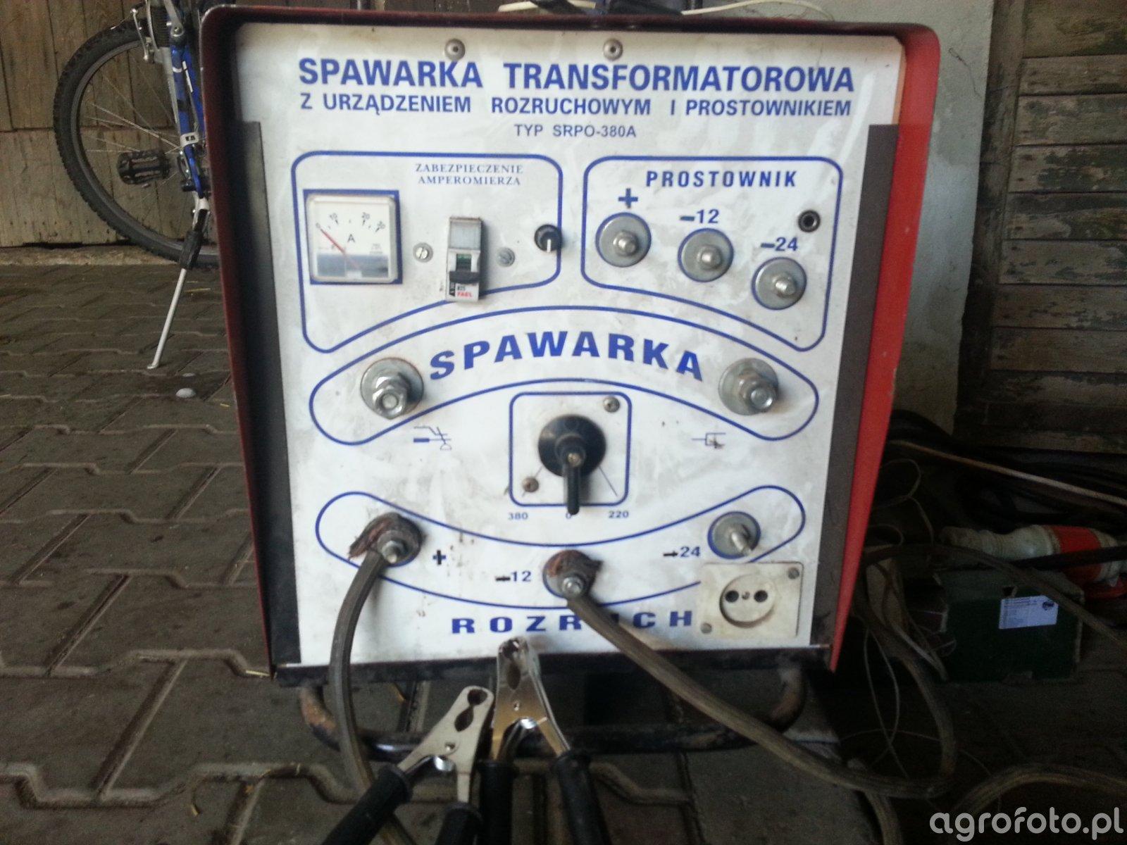 Spawarka transformatorowa z prostownikiem i rozruchem.